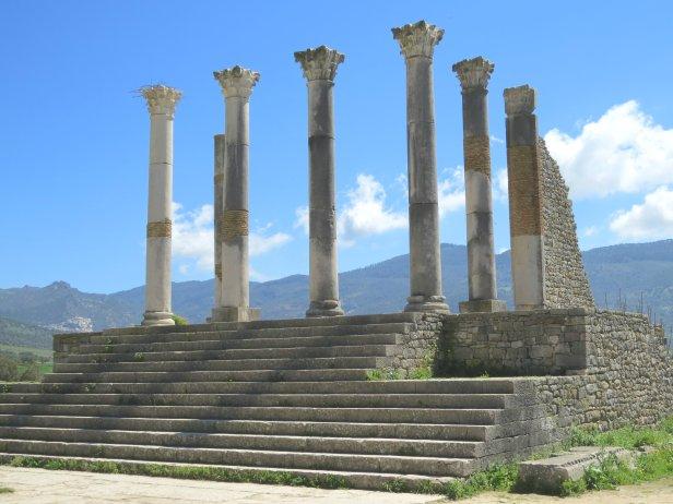 Volubilis Pillars Stairs
